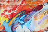 Fényképek Absztrakt festmények graffiti a beton falon. Háttér textúra