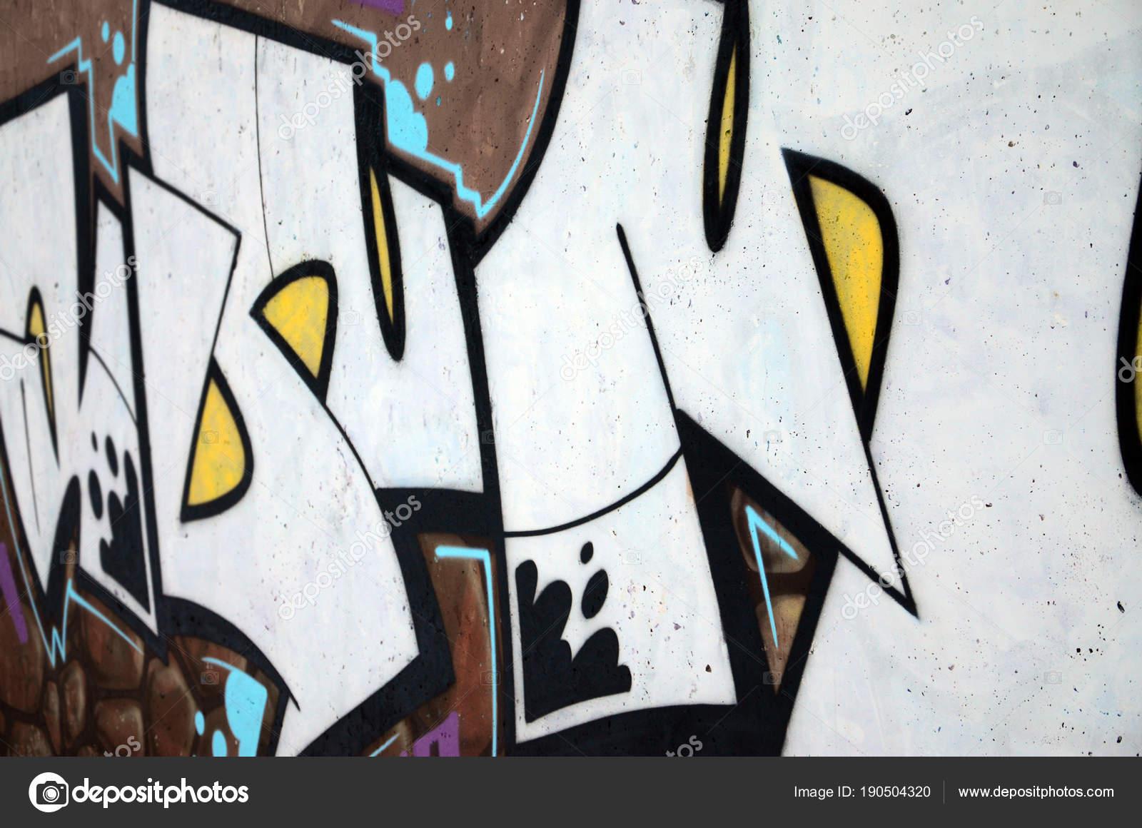 Die Alte Mauer Farbe Graffiti Zeichnen Mit Aerosol Farben Lackiert