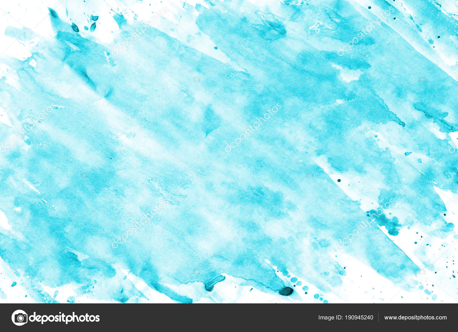 Colorful Blue Watercolor Wet Brush Paint Liquid Background