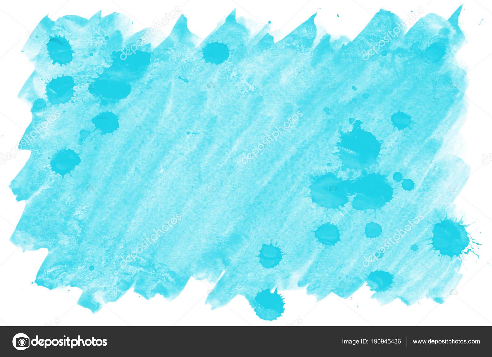 カラフルな青い水彩画ウェット ブラシ ペイント液体背景 壁紙用カード
