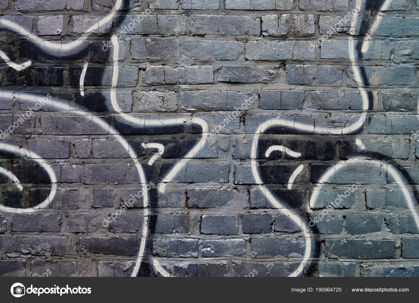 Schöne Straße Kunst Graffiti Abstrakte Farbe Kreative Zeichnung ...