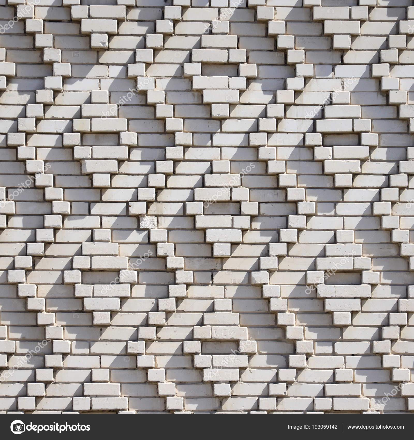 modèle briques blanches forme losanges décoration des murs cours
