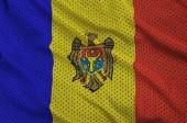 Fotografia Bandiera Moldavia stampato su un tessuto di maglia di poliestere nylon sportswear