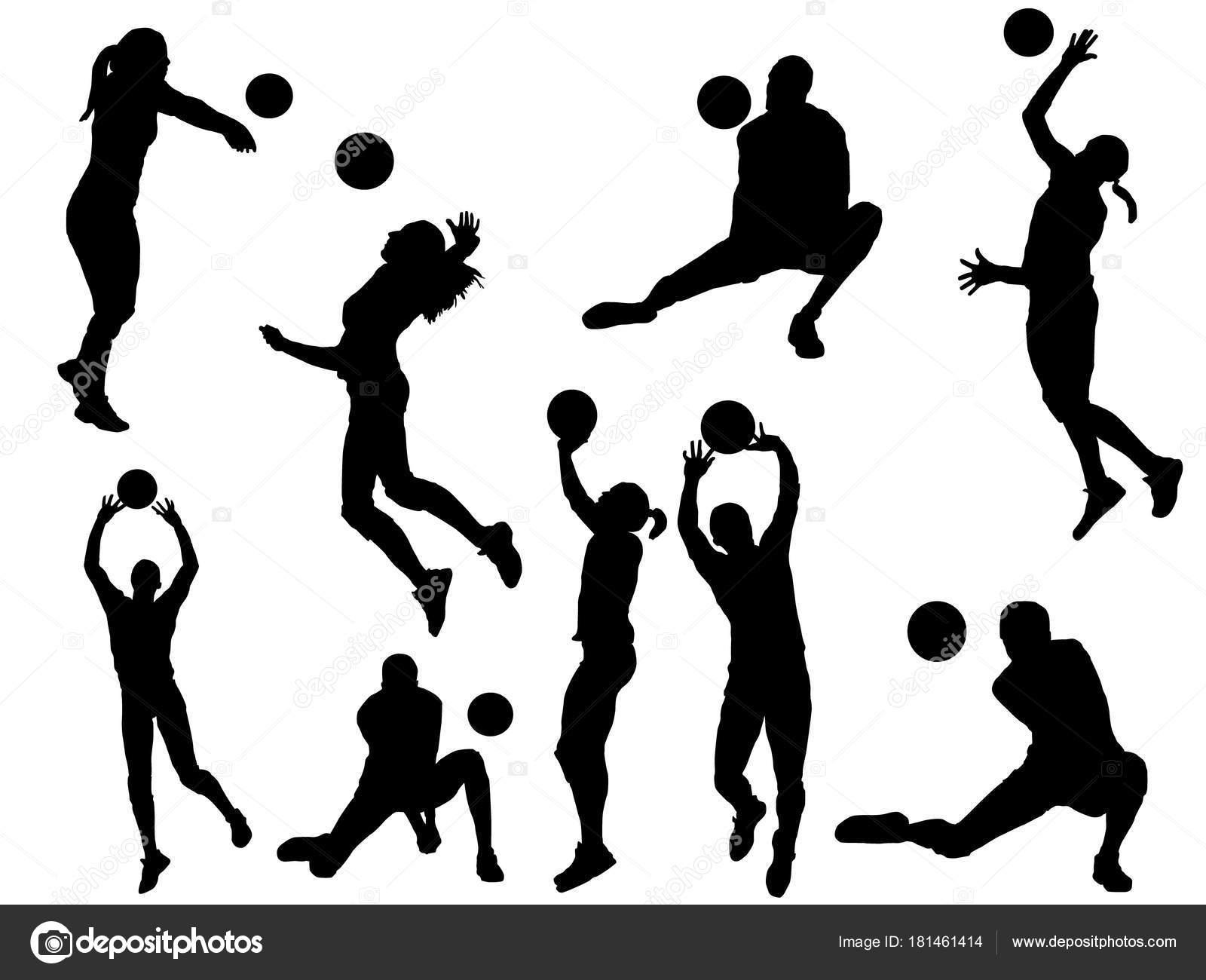 Jugador De Voleibol Silueta