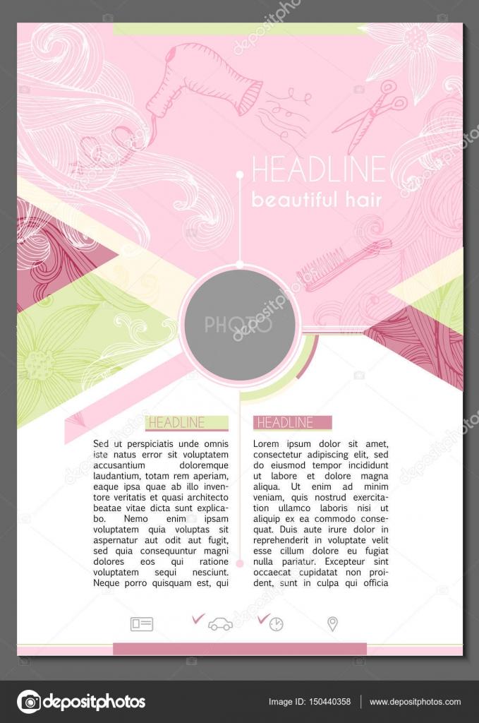 ejemplo de curriculum vitae para la peluquería — Vector de stock ...
