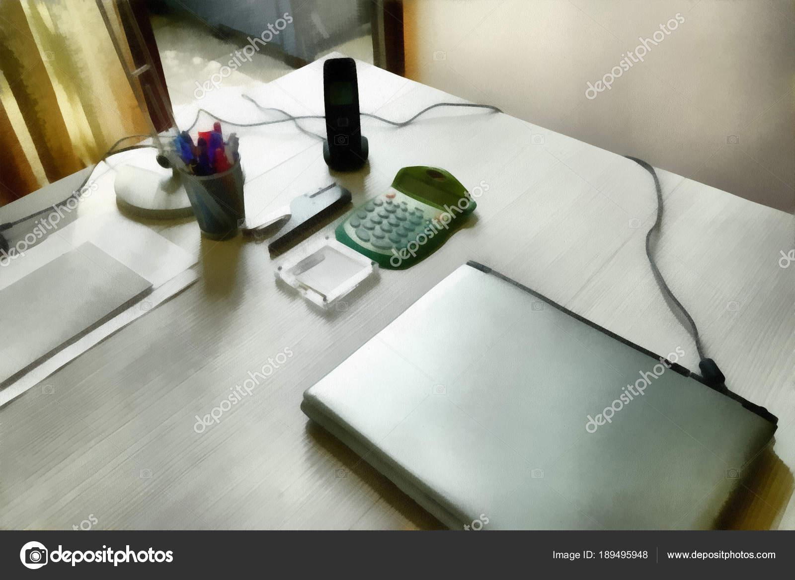 Arte digitale pittura accessori moderni per scrivania con computer