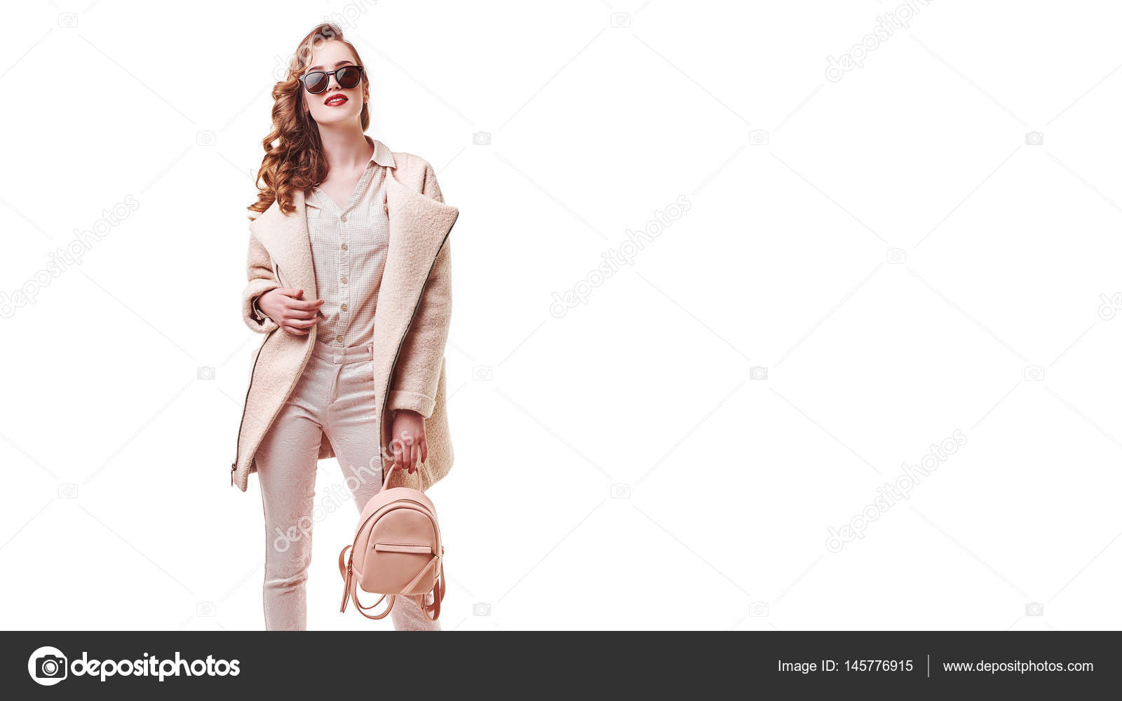Woman Style And Fashion Clothes Female Model Wearing Stylish Fashionable Clothing Light Pink