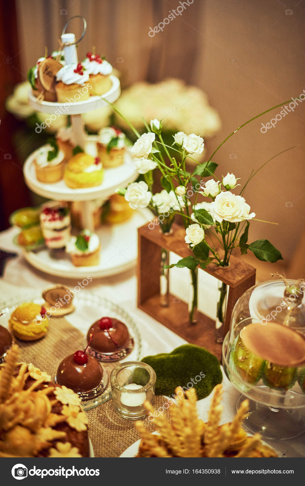Wedding Reception Candy Bar Dessert Table Stock Photo Vitalii