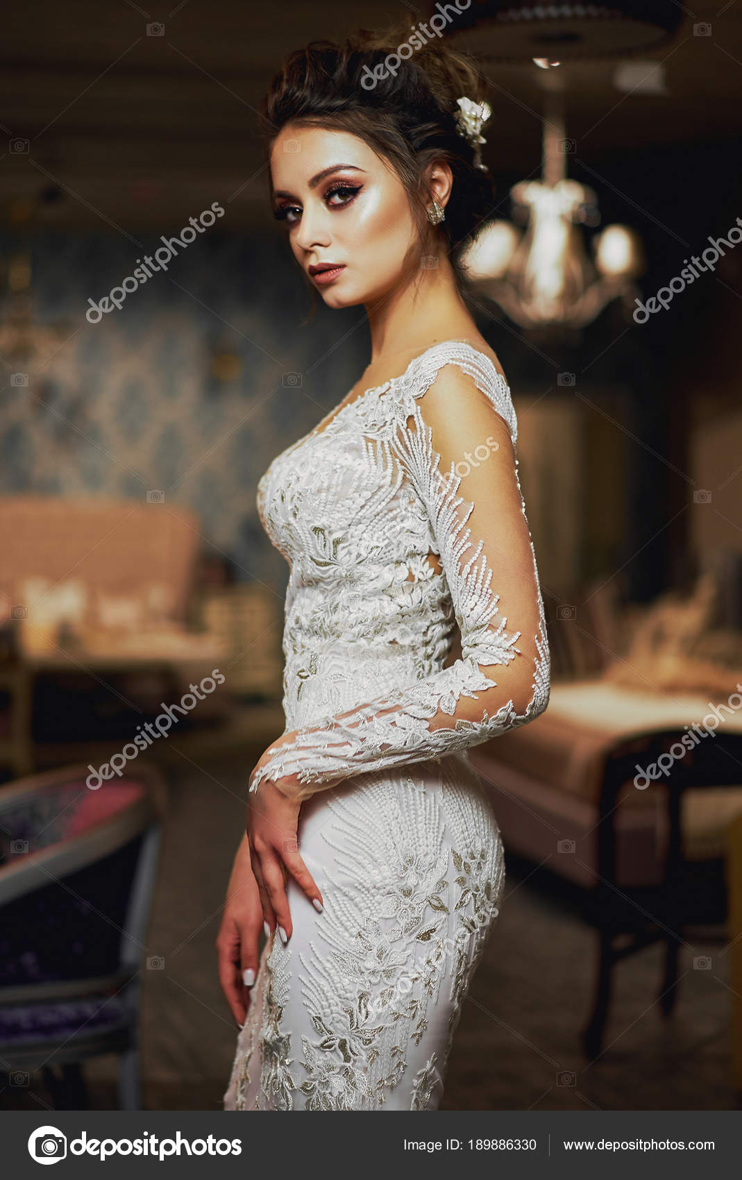 Robe blanche longue luxe