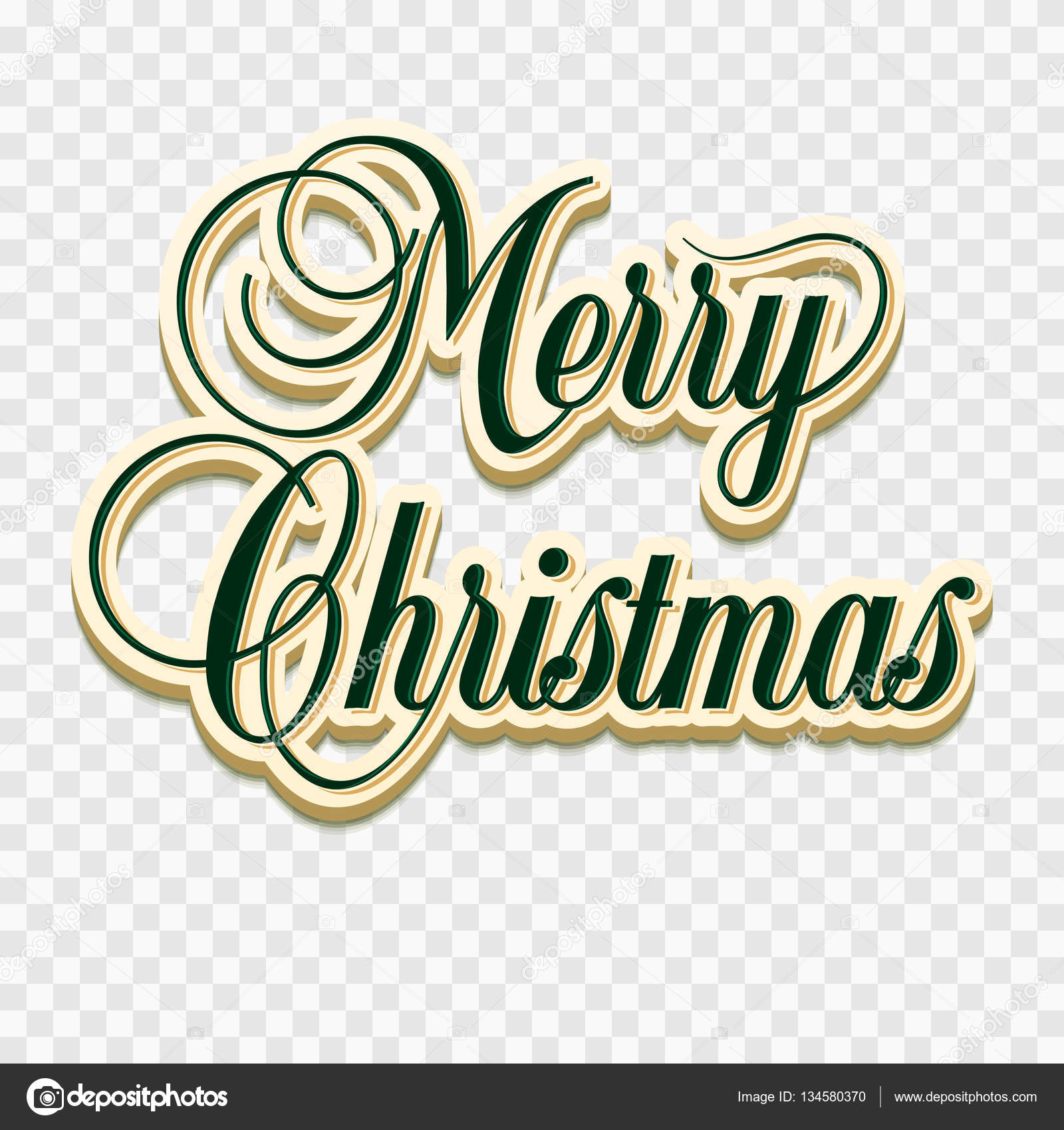 Merry Christmas Lettering.Merry Christmas Lettering Design Set Happy New Year And