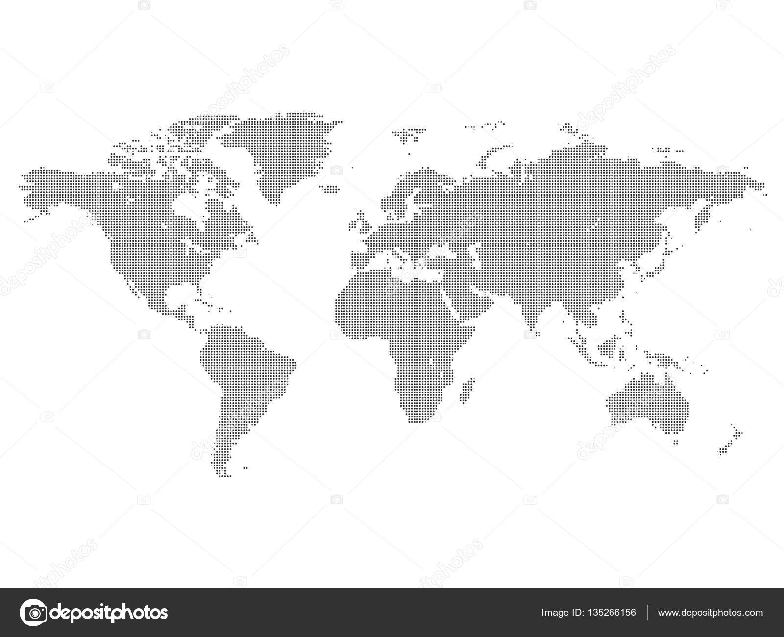World map made of dots stock vector angelmax 135266156 world map made of dots stock vector gumiabroncs Choice Image
