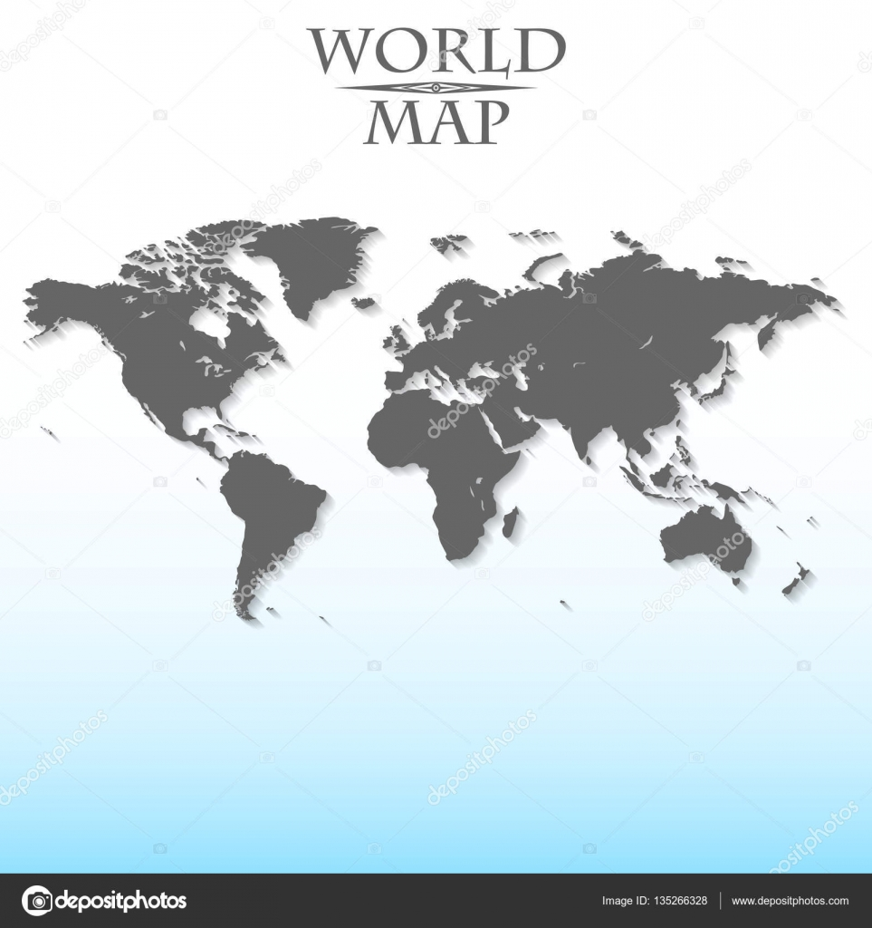 World map on a light background continent sea stock vector world map on a light background continent sea stock vector gumiabroncs Image collections