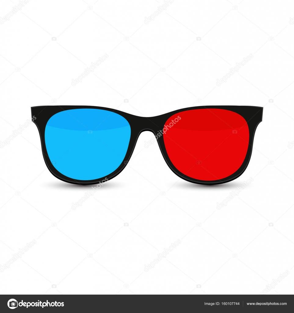 Gafas de sol con cristal rojo y azul — Archivo Imágenes Vectoriales ...