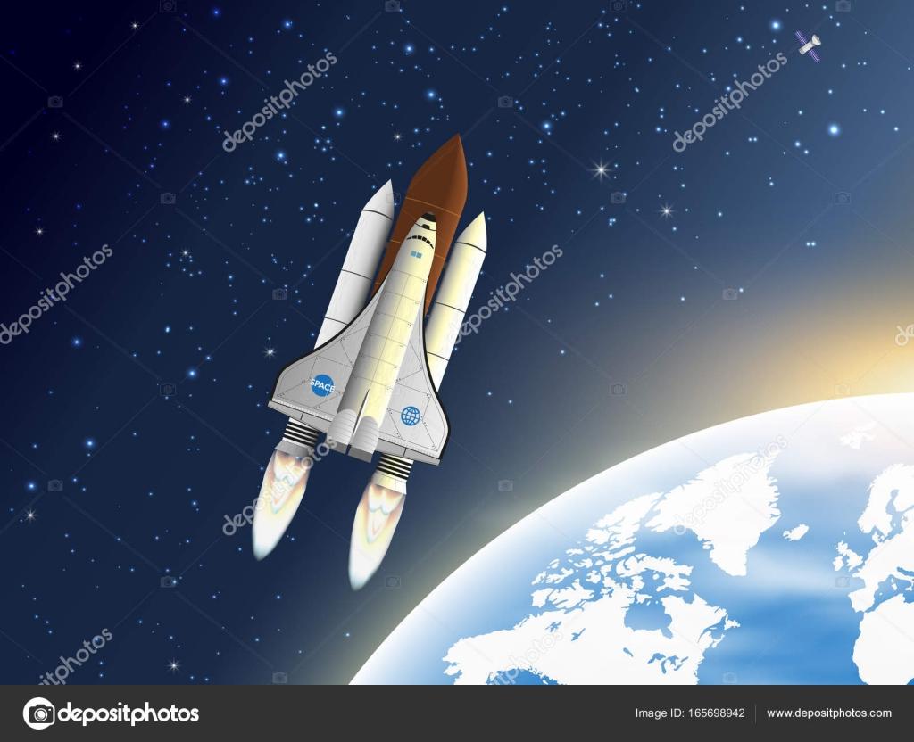 Despegue Transbordador Espacial. Una Nave Espacial