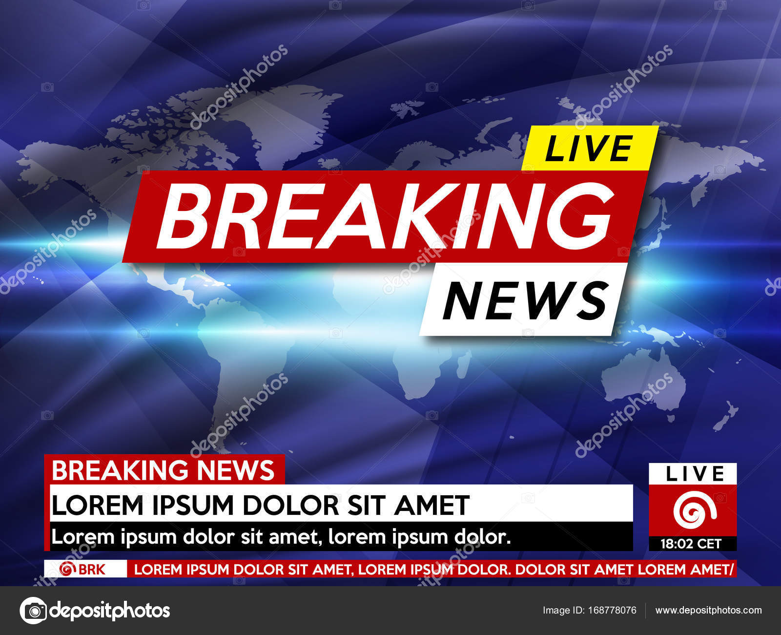 Background Screen Saver On Breaking News Live World Map Vector Illustration By AngelMax