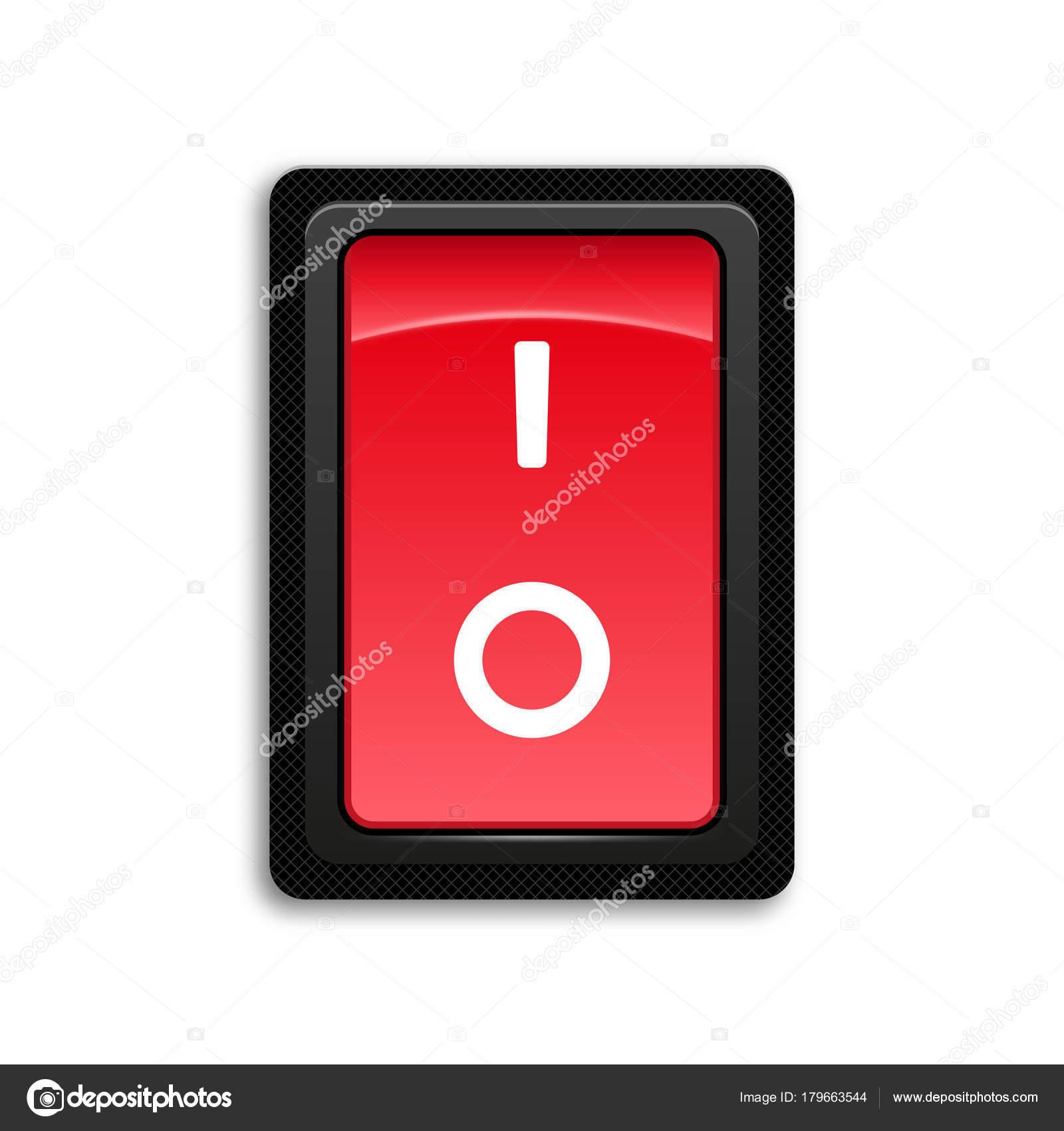 Rotes Symbol ein- und ausschalten ein/aus Schalter — Stockvektor ...