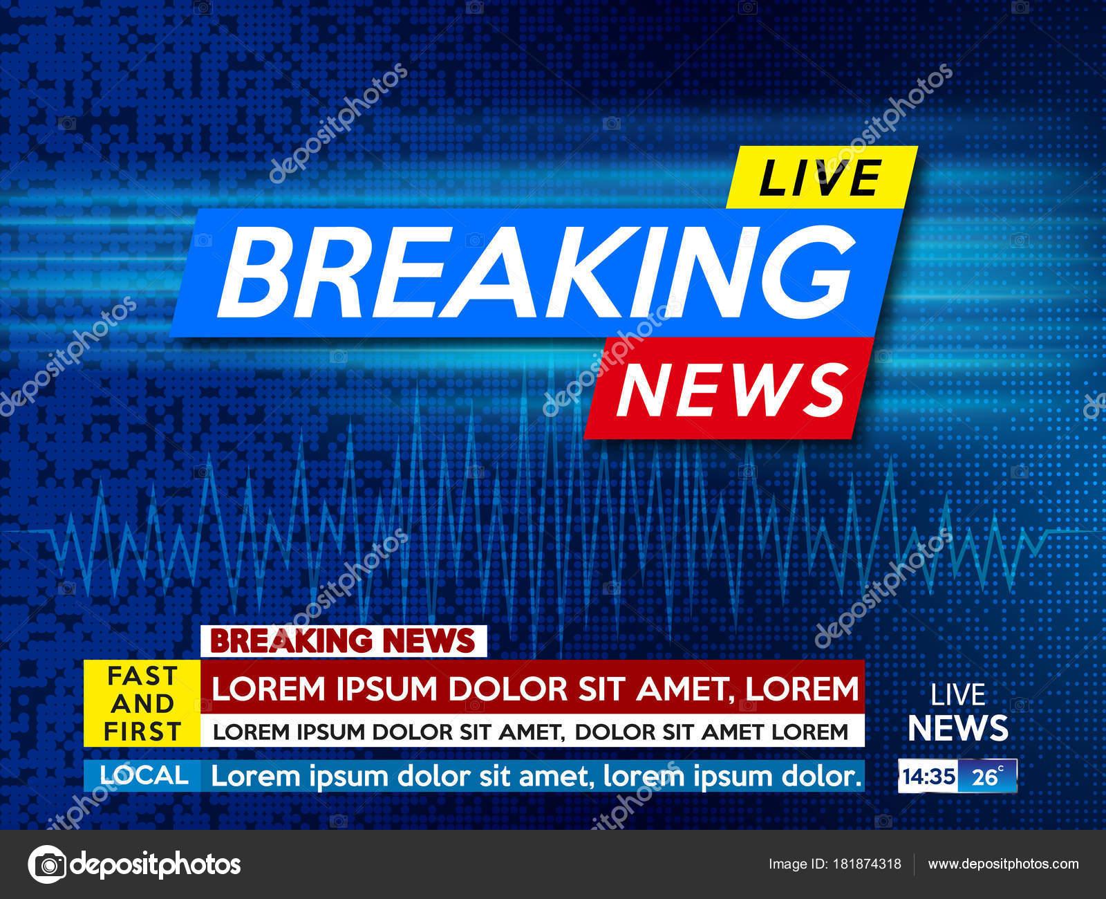 Hintergrund-Bildschirmschoner auf aktuelle Nachrichten — Stockvektor ...
