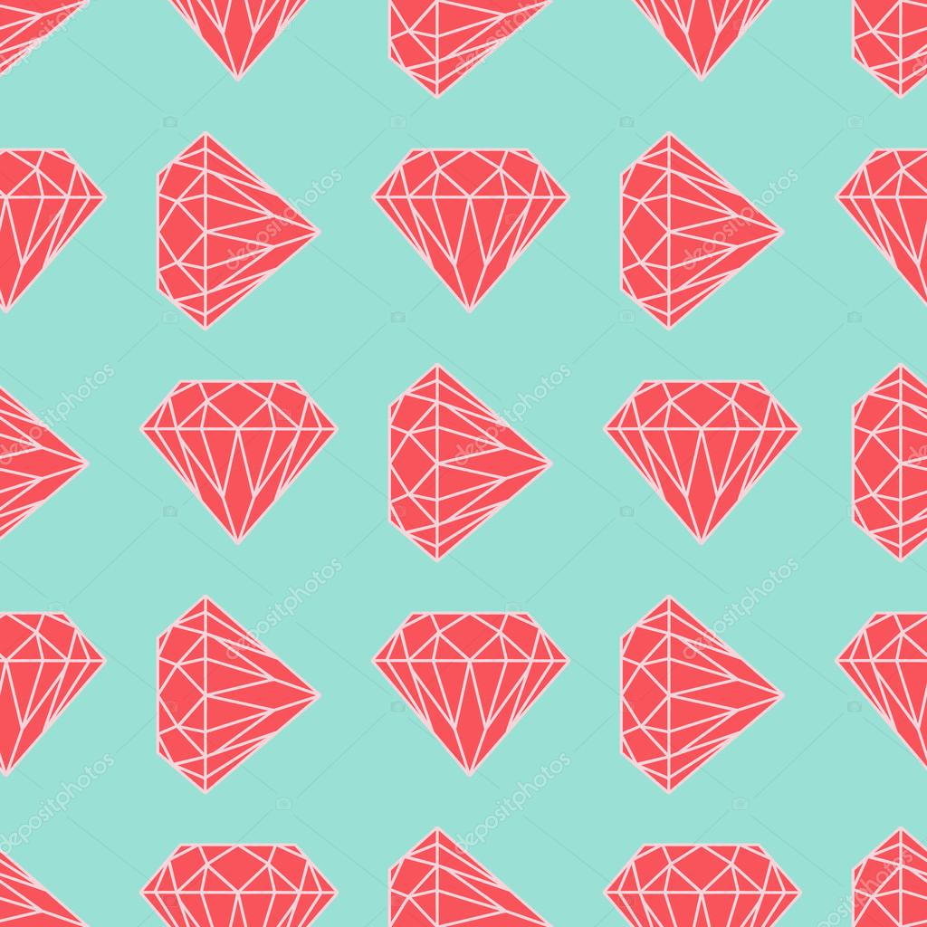 Vector seamless diamond or crystal pattern in red and blue colors vector seamless diamond or crystal pattern in red and blue colors colorful and simple flat design for wrapping textile fabric craft paper website jeuxipadfo Image collections