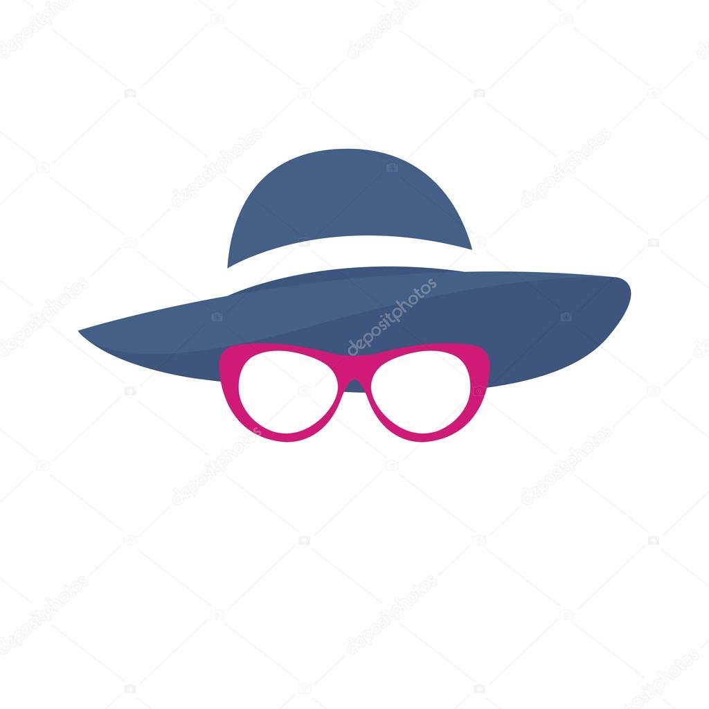 Ilustración vectorial de silueta de mujer con sombrero — Archivo ...