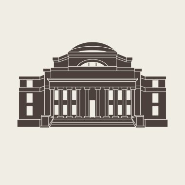 Vector illustration of classical university building