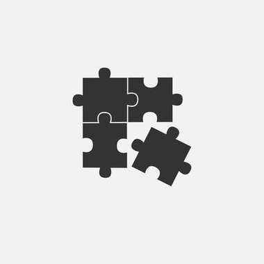 Vector object of puzzle web line isolated icon