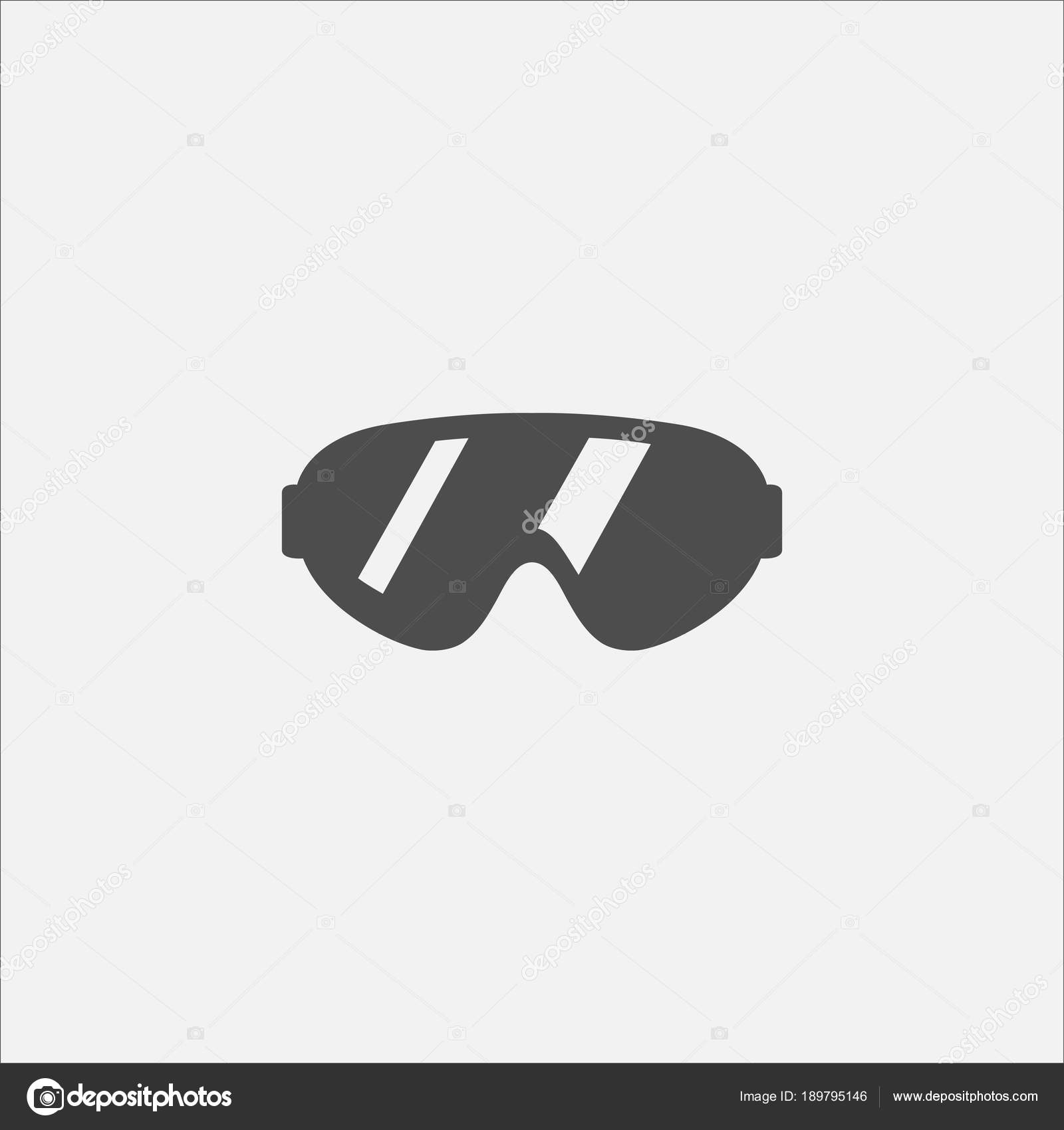 Glasses Symbol Flat Icon For Web In Trendy Flat Style Isolated On