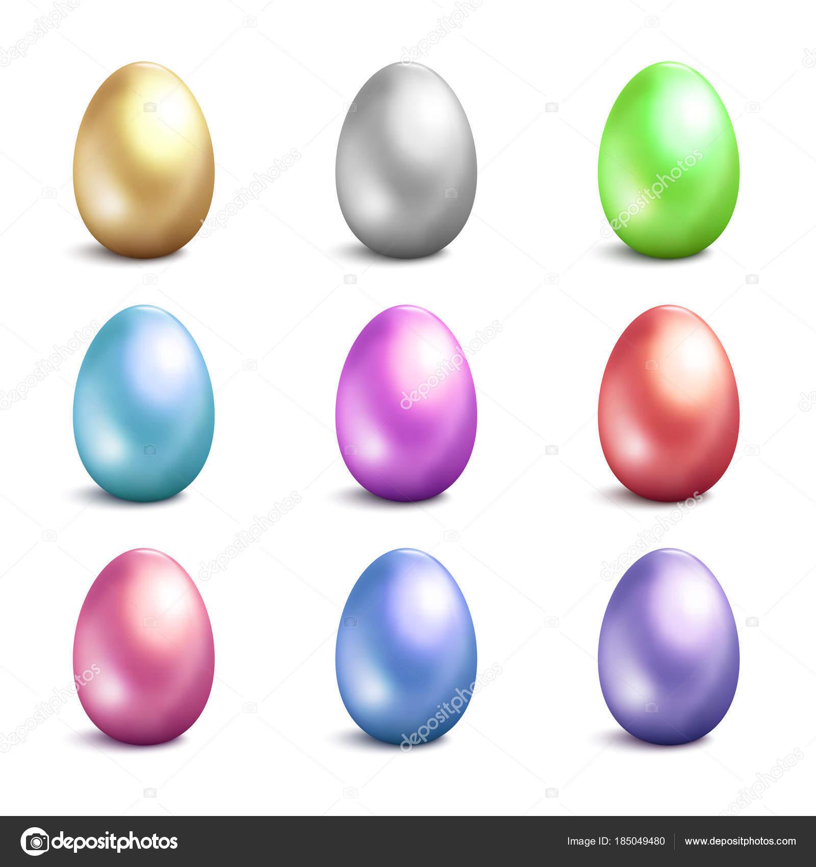 Huevos de Pascua de vectores iconos. Vector aislado de huevos de ...