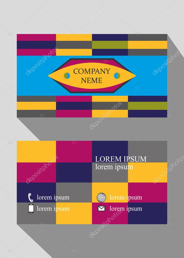 Vector design for business cards two sided card design vector vector design for business cards two sided card design vector illustration abstract background rectangular template business card card size 94 on 52 reheart Choice Image
