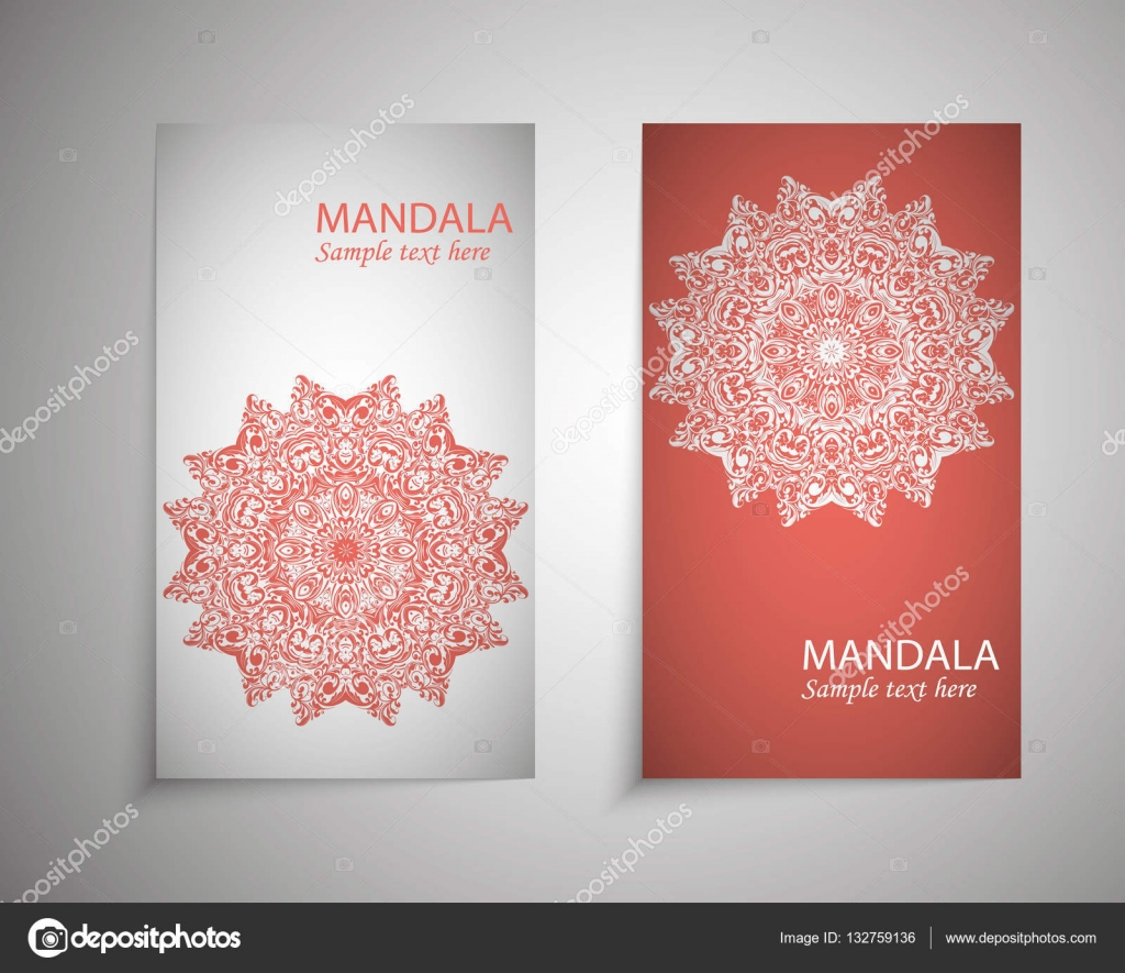 flyer, leaflet, brochure, cover mandalas, abstract Oriental motif ...