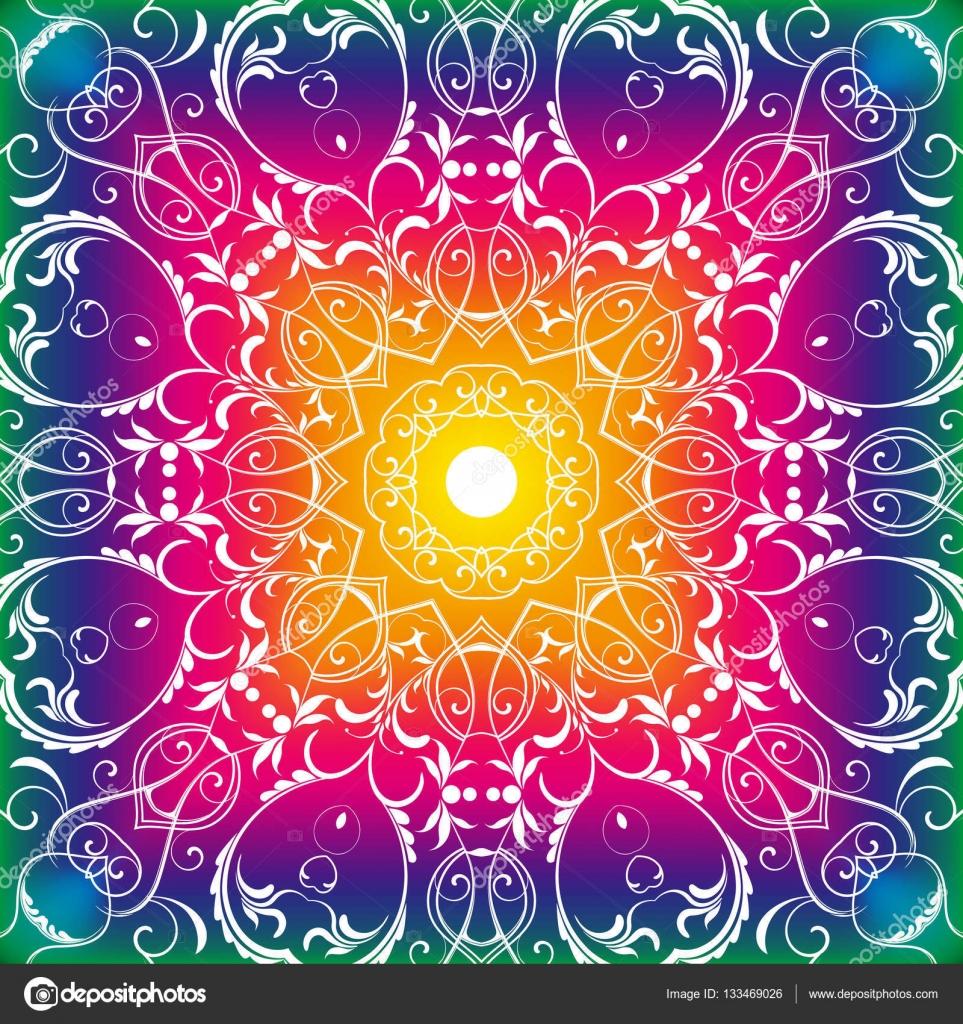 Colores para mandalas tejidos patr n floral transparente - Colores para mandalas ...