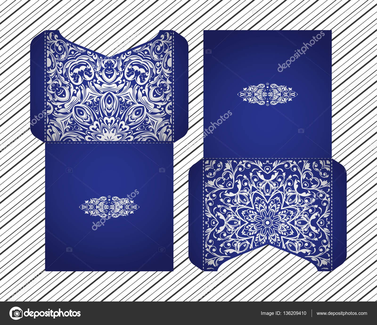 vector wedding invitation laser cut patterns mandala envelope design