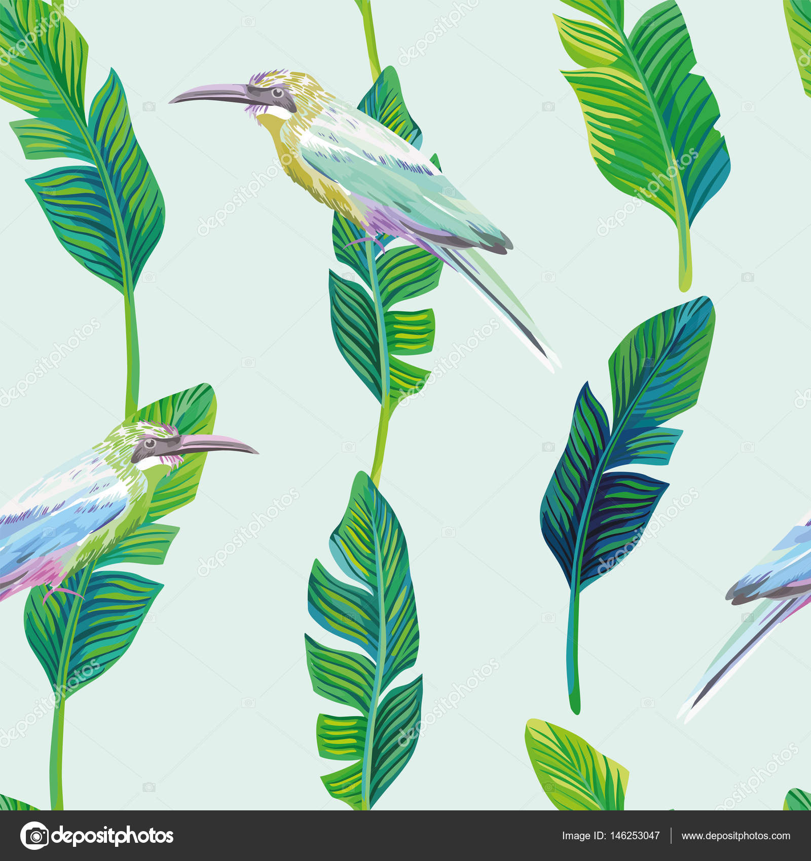 wallpaper tropical birds and foliage - photo #28