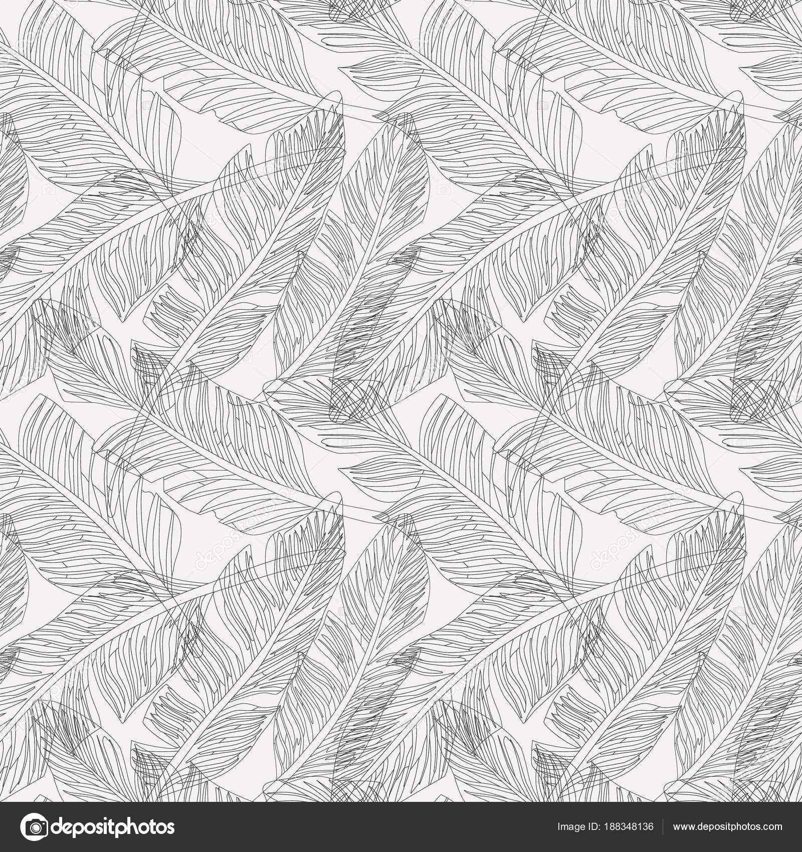 Palm Leaves Outline Outline Palm Leaves White Background Seamless Pattern Stock Vector C Berry2046 188348136 ▪ 30 black outline (see picture 2). https depositphotos com 188348136 stock illustration outline palm leaves white background html