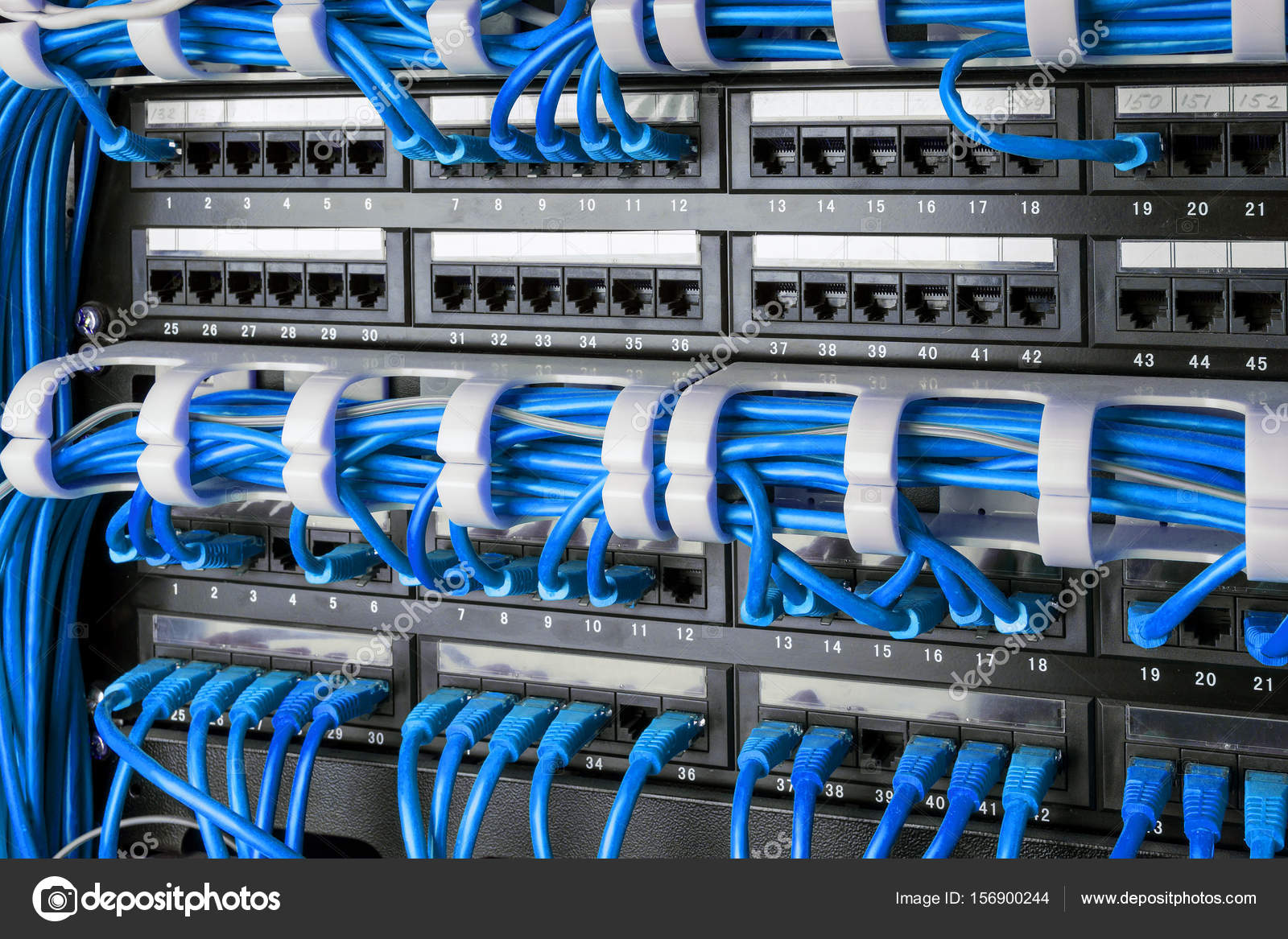 Network Panel Switch And Internet Cable In Data Center Black Networking Ethernet Wiring Blue Cables Concept Photo By Angelus Liam