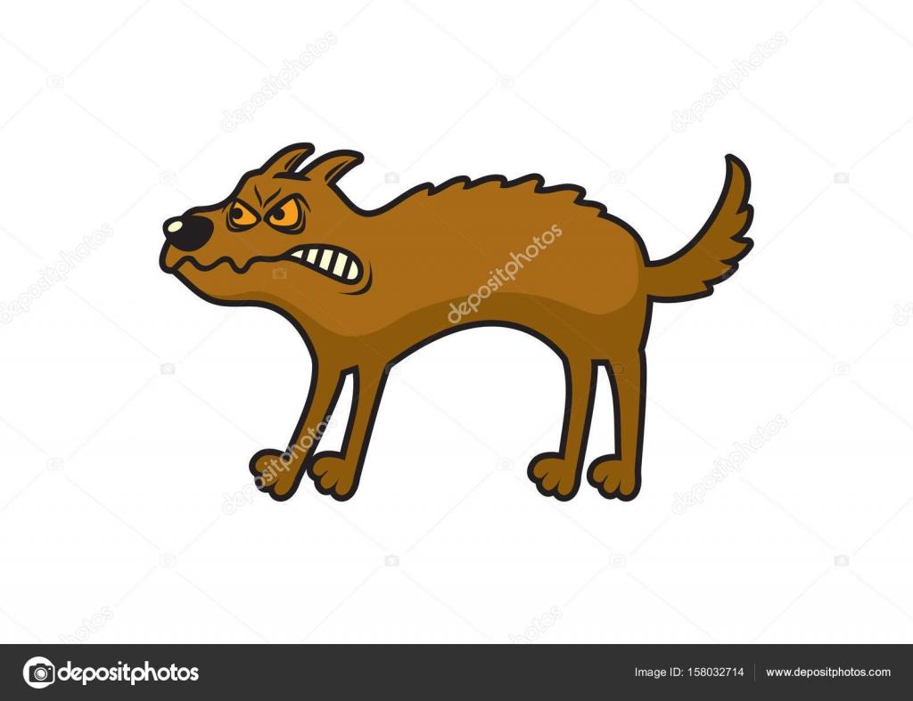 Cartoon Böse Hund Stockvektor Betka82 158032714