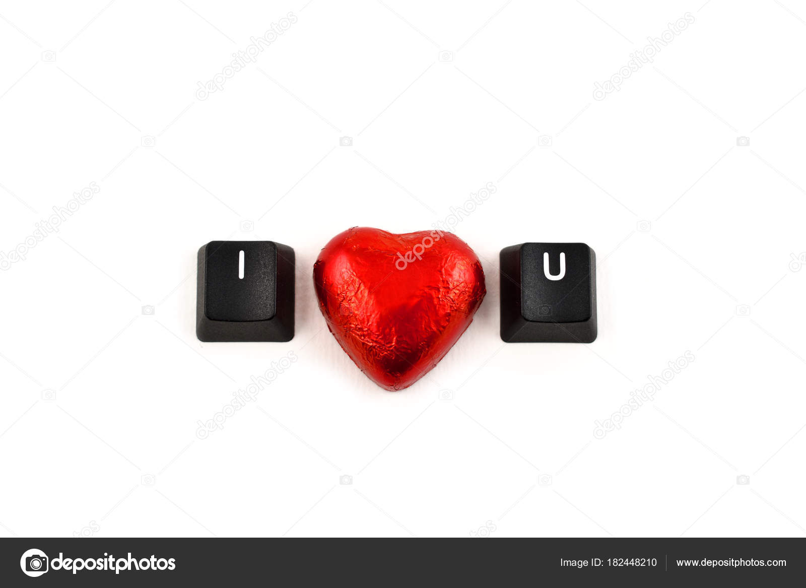 Love You Stock Images Valentines Day Concept Love Keyboard