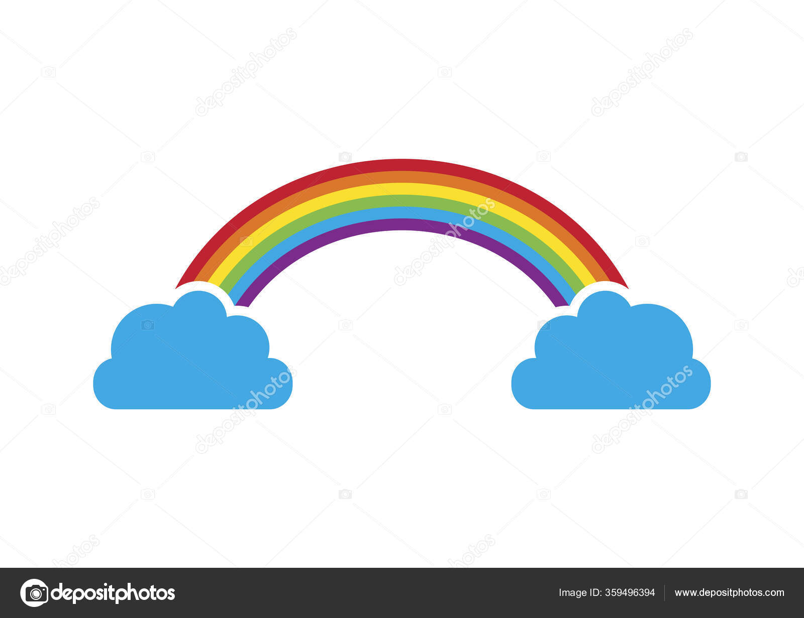 Rainbow Clouds Vector Rainbow Graphic Icon Colorful Rainbow Vector Beautiful Stock Vector Betka82 359496394