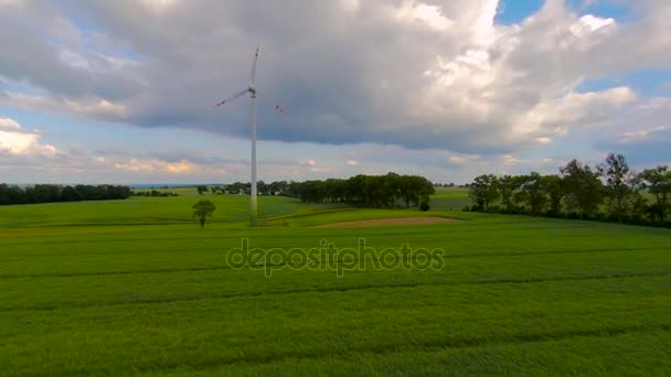 Windmill / Wind power technology - Aerial drone view on Wind Power, Turbine, Windmill, Energy Production