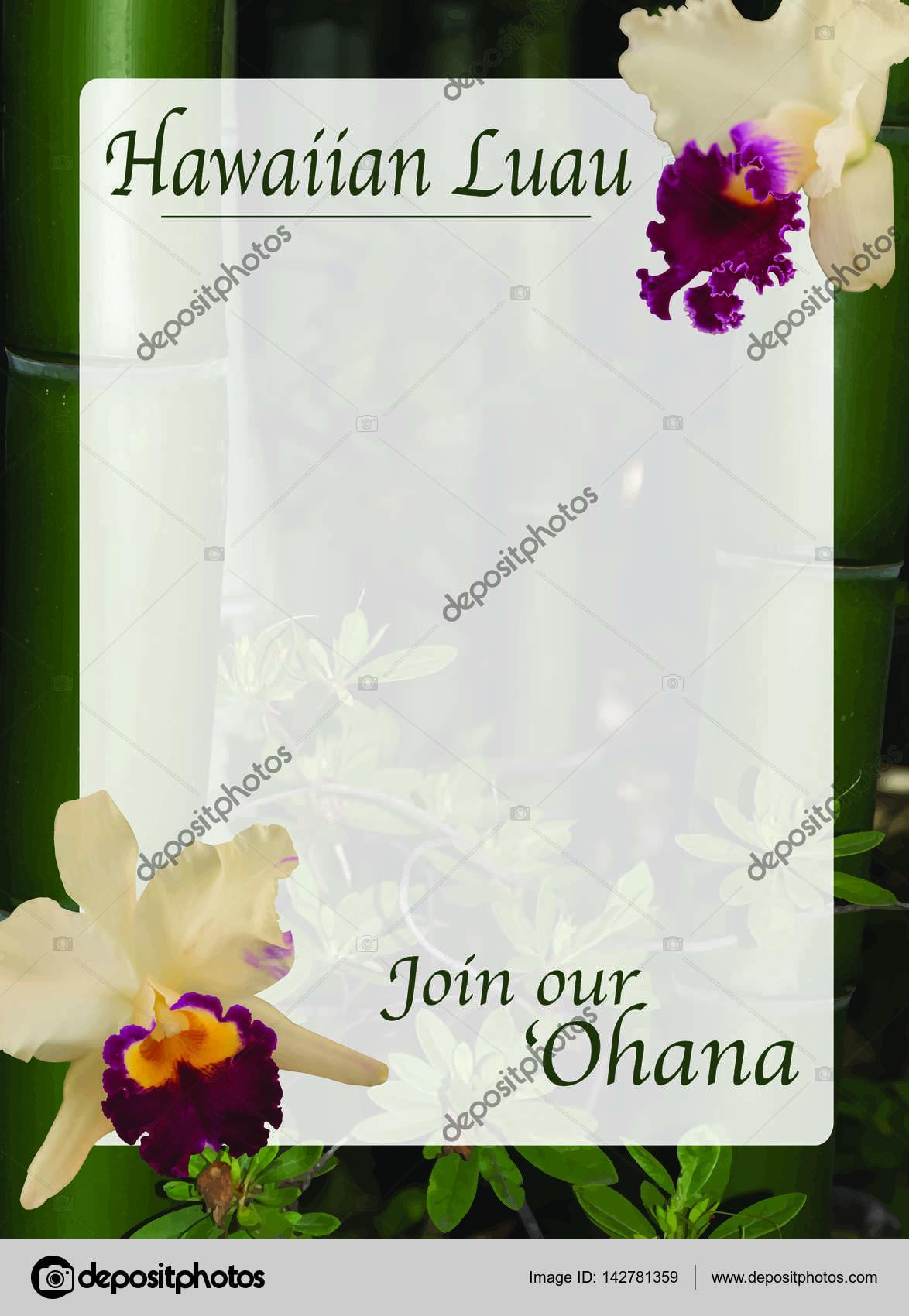 Plantilla de illustrator de invitación de luau hawaiano — Fotos de ...