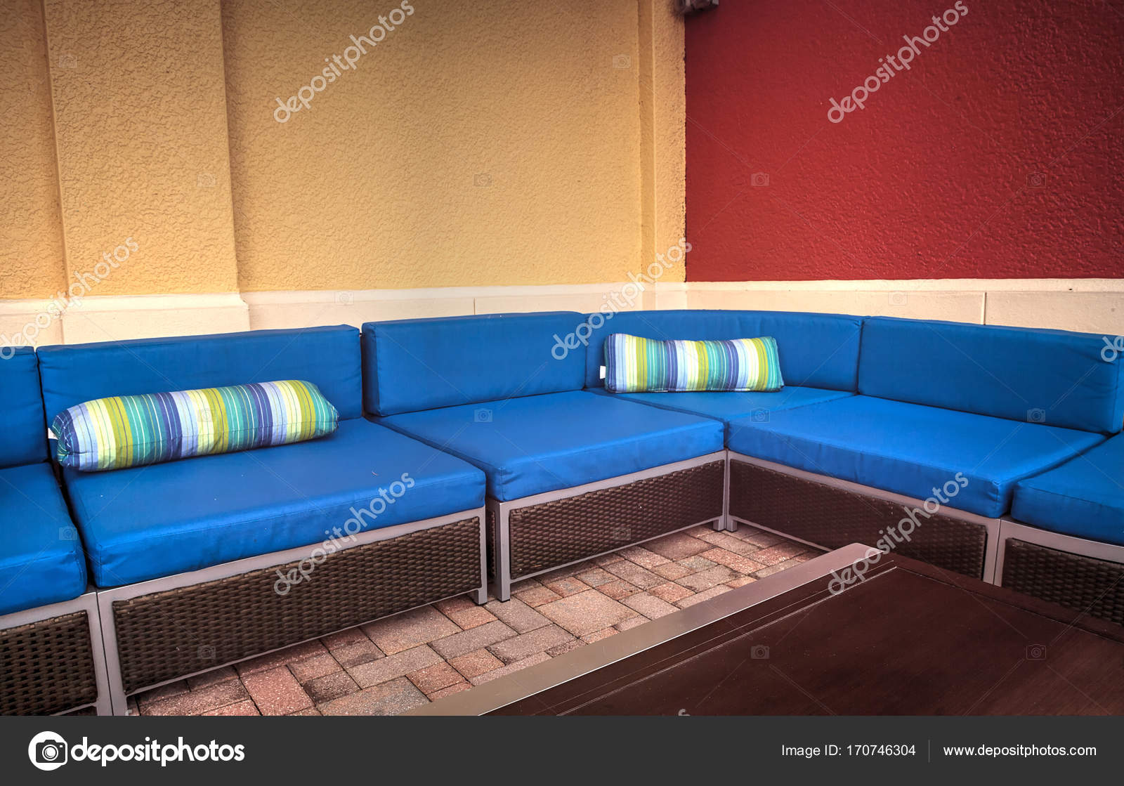 Admirable Tropical Blue Couch Furniture Stock Photo C Stephstarr9363 Bralicious Painted Fabric Chair Ideas Braliciousco
