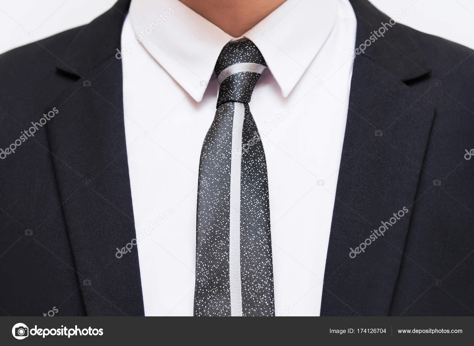Overhemd Voor Pak.Zwarte Pak Met Wit Overhemd En Stropdas Stockfoto C Ilariya 95