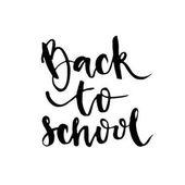 Zpátky do školy - nápisy kaligrafie fráze ručně text izolovaných na bílém pozadí