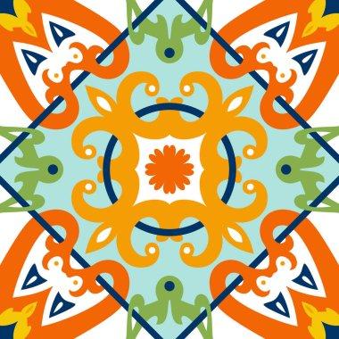 Oriental traditional ornament, Mediterranean seamless pattern, tile design, vector illustration. clip art vector