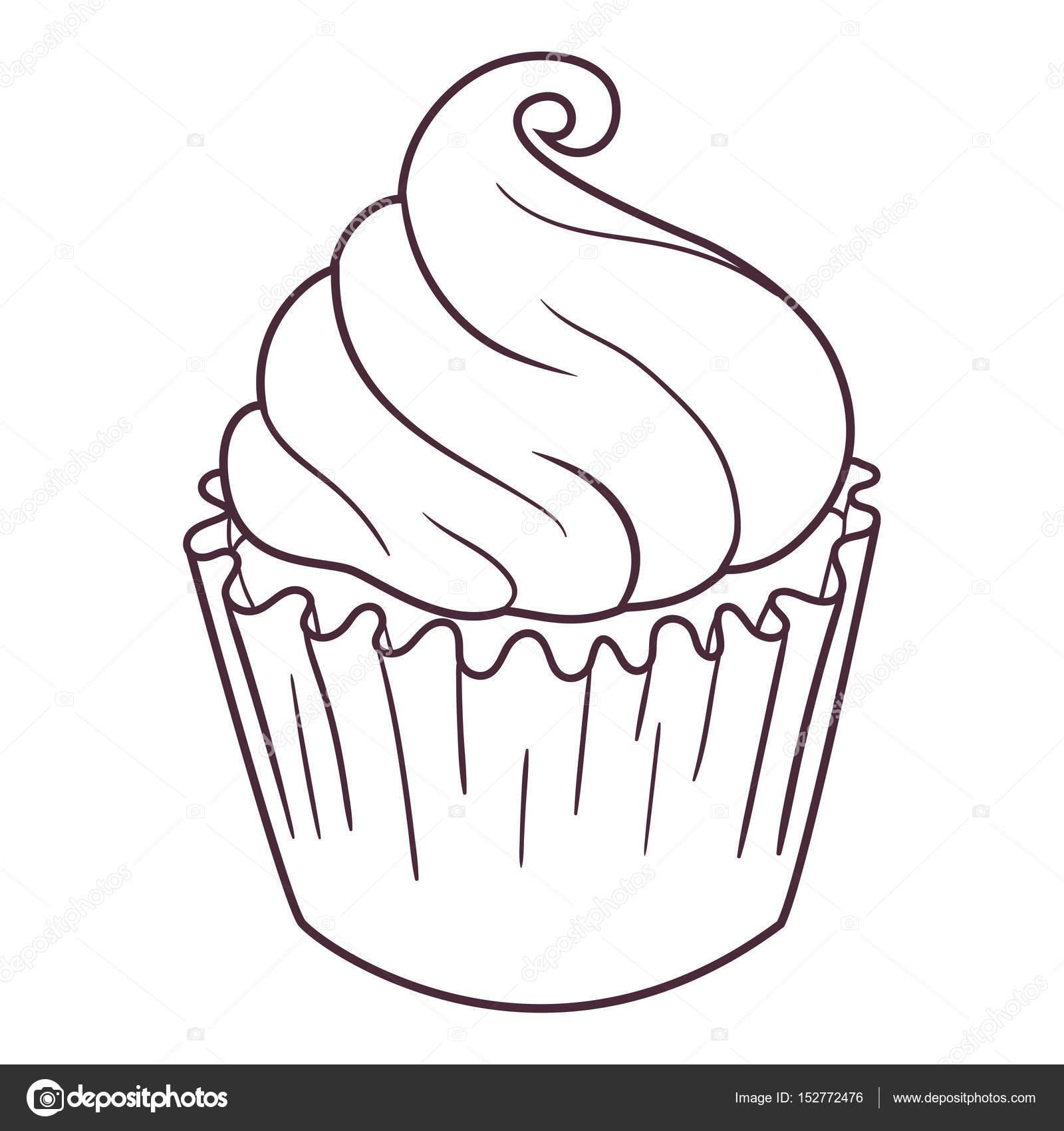 Peri Cupcake çizimi Stok Vektör Ksuganz 152772476