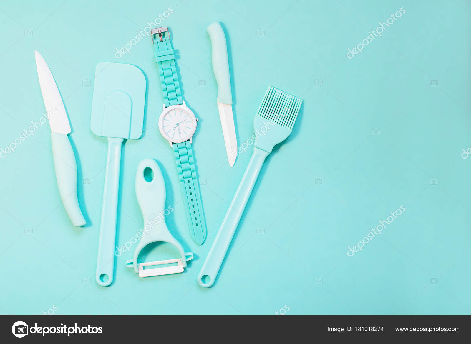 Cooking Tools And Kitchen Utensil On Color Background Photo By Photokool Ukr Net