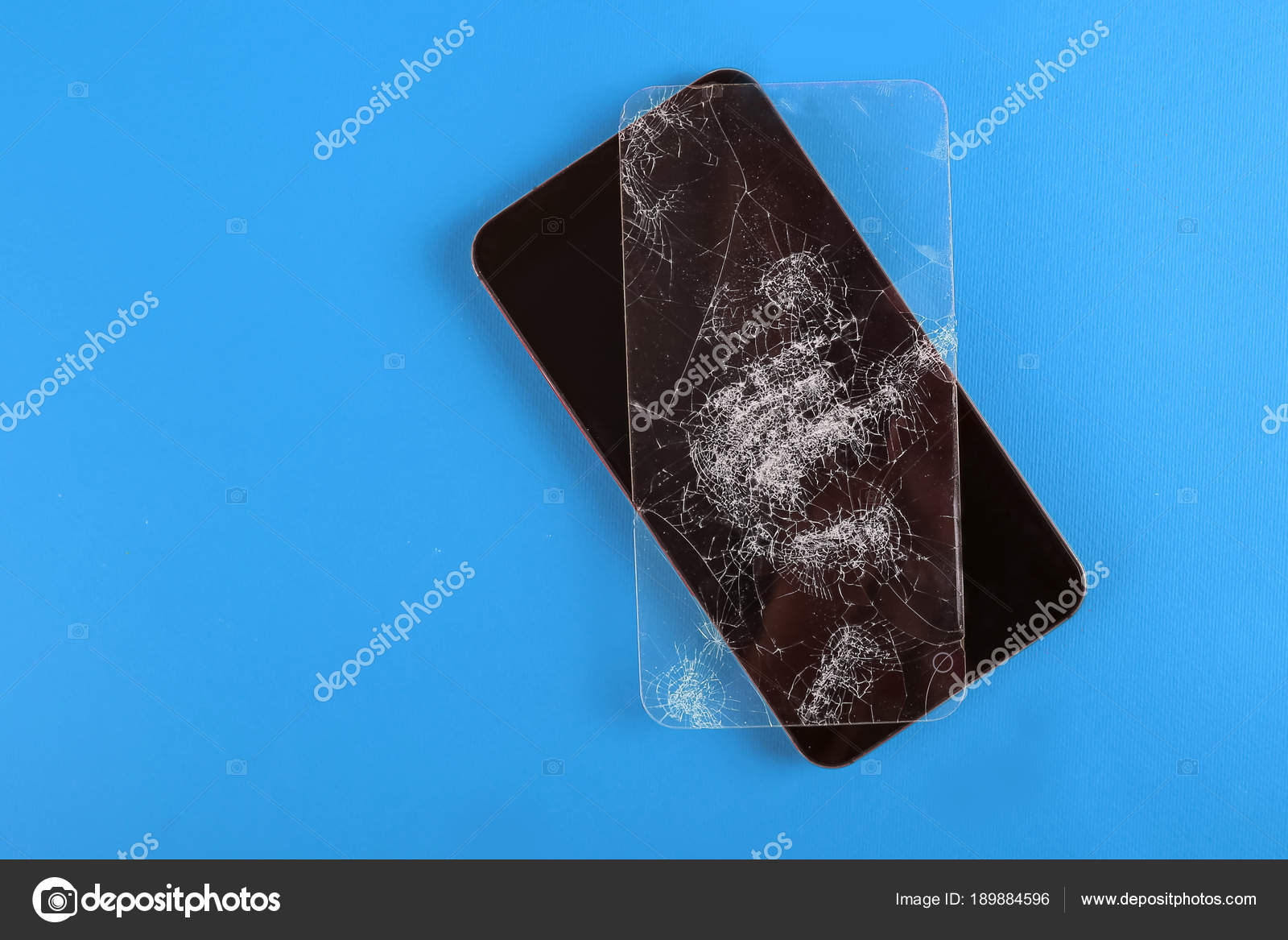 Display Rotto Sul Cellulare Colore Sfondo Foto Stock Photokool