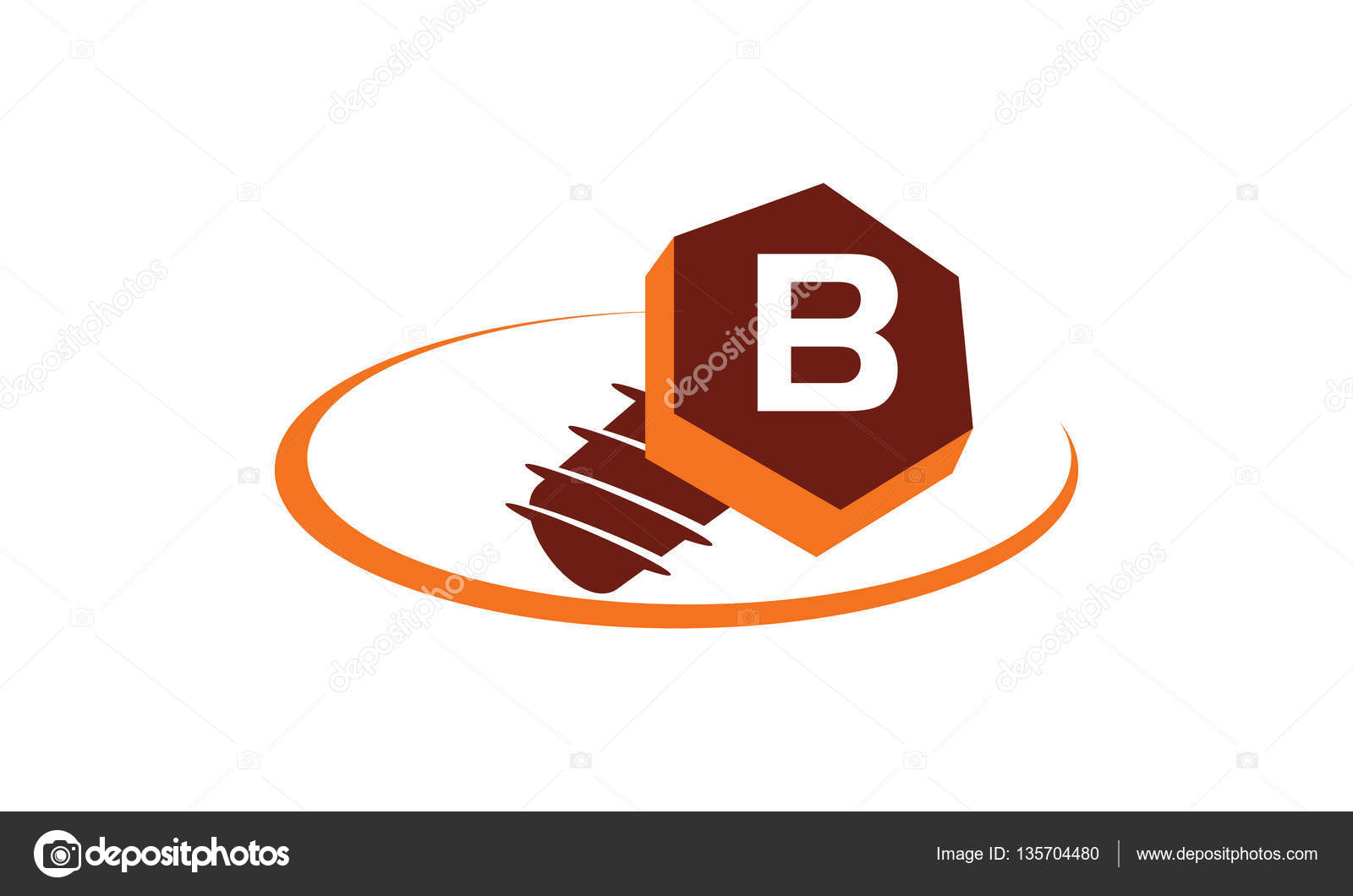 B Stock Solutions industrial solutions initial b — stock vector © alluranet