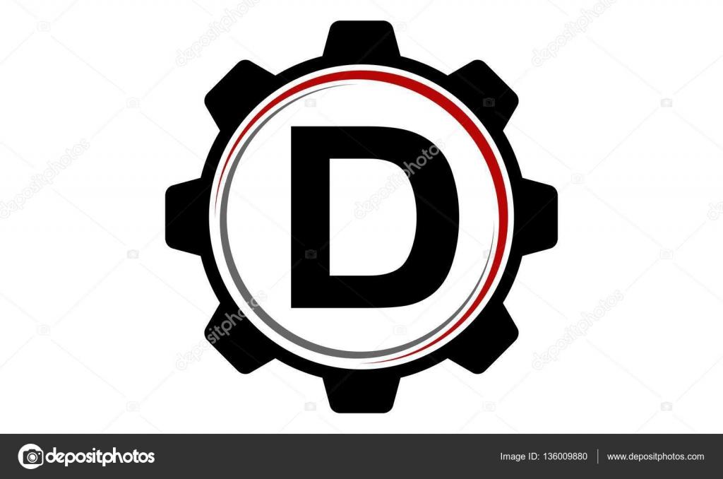 logo lettre d Gear Solution Logo lettre D — Image vectorielle allura© #136009880 logo lettre d