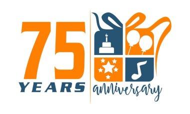 75 Years Gift Box Ribbon Anniversary