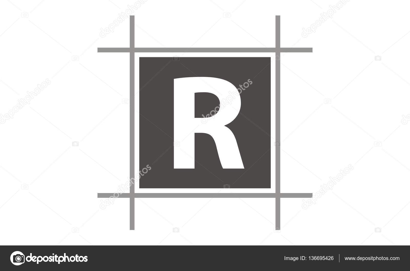 Letter R In Box  Stock Vector  Alluranet